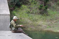 堰堤の釣り
